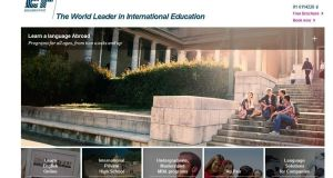 A screengrab of the EF International Language Centre website.
