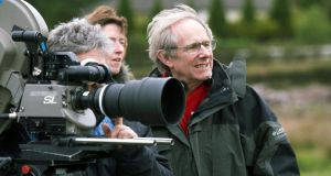 "Look left: Ken Loach on set. ""If you make the kinds of films we do, it's not going to be in multiplexes for very long. But you hope it can have a slow-burning effect. And you can support the people who will fight"""