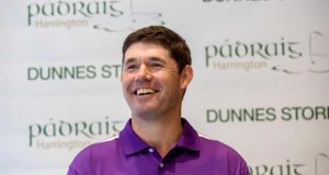 Pádraig Harrington was in Dublin yesterday to launch his exclusive range of golf apparel in association with Dunnes Stores. Photograph: James Crombie/Inpho
