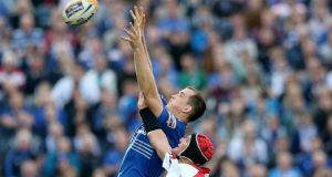 Leinster's Devin Toner in action against Ulster in their RaboDirect Pro12 play-off semi-final at the RDS earlier this month.