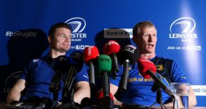 "Brian O'Driscoll and Leo Cullen: ""For all the players that came and went over 15 years those two remained crucial."" Photograph: Cathal Noonan/Inpho."