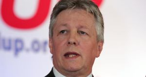 Northern Ireland's First Minister Peter Robinson said he planned to   meet local Muslim leaders to 'demonstrate my ongoing support for them as integral law-abiding citizens in Northern Ireland'. Photograph: The Irish Times