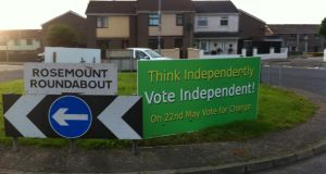 Election posters in Derry last weekend. Photograph: Sinéad O'Shea