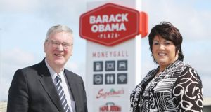 Kind of genius: Pat and Una McDonagh, directors of the Barack Obama Plaza. Photograph: Brian Gavin/Press 22