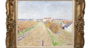 The top lot in Adam's was a painting by Roscommon-born Impressionist artist Roderic O'Conor, a French landscape titled Chemin Mènant à Grez which made €210,000 within the estimate (€150,000-€250,000).