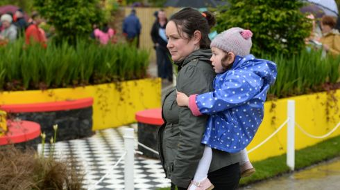 Anne McEvoy with her daughter Isobella McEvoy Daly, from Lucan in Co Dublin enjoying the festival. Photograph: Dara Mac Donaill / The Irish Times