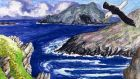 A story encircled by foam: looking out from Inishvickillane. Illustration: Michael Viney