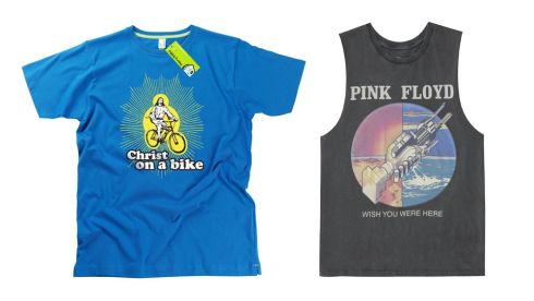 Christ Bike T, €22, hairybaby.com Pink Floyd T Shirt, €45, Urban Outfitters