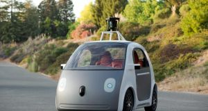 Google's new autonomous vehicle neither has a steering wheel nor pedals. Photograph: EPA/Google