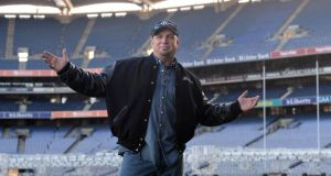 A file image of Garth Brooks in Croke Park in January when he announced the first of his concerts at the stadium in July this year.  Photograph: Irish Times