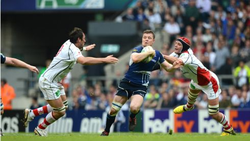 Brian O'Driscoll in action against Ulster in the Heineken Cup Final at Twickenham in 2012.  Photograph: Dara Mac Dónaill / THE IRISH TIMES
