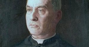 The portrait of Msgr Patrick J Garvey, dated 1902, by American artist Thomas Eakins