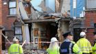 A houses on O'Sullivan Street damaged after an apparent gas explosion in Stoneybatter, Dublin. One man was seriously injured. Photograph: Clodagh Kilcoyne