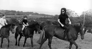 Jackie Kennedy with her children Caroline and John at Woodstown Co Waterford. Photograph: Colman Doyle /The National Photographic Archive
