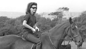 Jackie Kennedy horse riding during a visit to Ireland. Photograph: The Irish Times