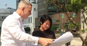 Fine Grain Irish-Singapore property investment group CEO Colin MacDonald and business development manager Nicole Lim