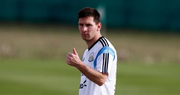 f88e430137b Argentina s Lionel Messi at a training session in Buenos Aires. Photograph   Marcos Brindicci