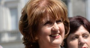 Minister Joan Burton: Her key messages to members will relate to living standards and easing the burden on middle and lower-income families. Photograph; Dara Mac Dónaill / The Irish Times
