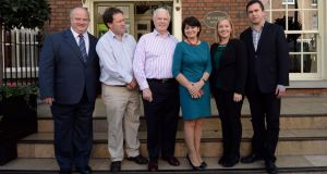 A file photograph of Reform Alliance members, which could become a new political party under the 'Independent Alliance' banner. From left: Billy Timmins, Paul Bradford, Peter Mathews, Fidelma Healy Eames, Lucinda Creighton and Terence Flanagan.Photograph: Brenda Fitzsimons/The Irish Times.