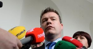 "Minister of State for Transport Alan Kelly has said he would be ""very reticent"" to go into Government with Sinn Féin. Photograph: Brenda Fitzsimons/The Irish Times"