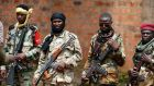 Seleka fighters stand in line at a Seleka base in Bambari, Central African Republic on  May 31st. Photograph: Goran Tomasevic/Reuters