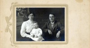 Family: Joyce's brother Charles with his first wife, Mary, and their first child, James, in 1909