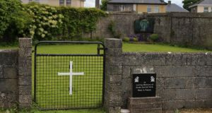 The site of the  mother-and-baby home, in Tuam. Photograph: Niall Carson/PA
