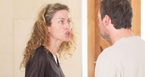 Carrie Crowley and David Murray in rehearsals for 'The Separation'