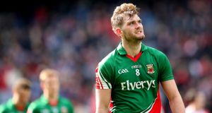 Aidan O'Shea: starts at midfield with his brother Séamus for Mayo against Roscommon. Photograph: Inpho