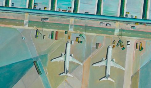 A detail from Dublin Airport, Claire Hyland