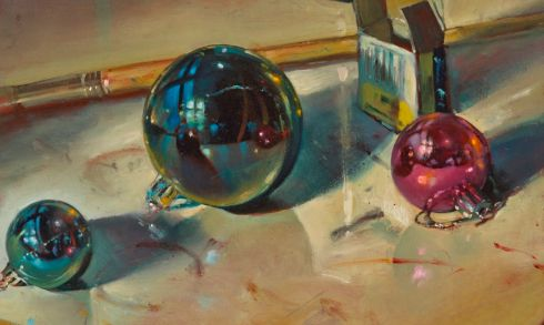 A detail from Baubles, Dave West