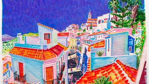 Detail from 'Spanish Village, Málaga', Michael Cullen