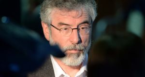 Sinn Féin leader Gerry Adams has called for the reopening of the 1970s 'Hooded Men' case. Photograph: Eric Luke/The Irish Times