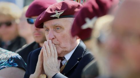 William Ness, 12th Yorkshire Parachute Battalion, during a commemorative ceremony at Memorial Pegasus near Ouistreham, France, as veterans mark the 70th anniversary of the D-Day landings during World War II. Photograph: Gareth Fuller/PA Wire