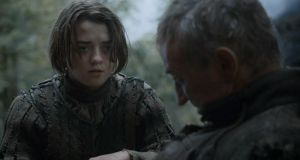 End Game: Arya Stark and the Dying Man (Barry McGovern) in Game of Thrones