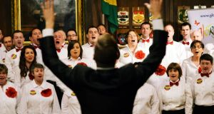 Members of GLORIA, Dublin's Lesbian & Gay Choir. Photograph: Alan Betson / The Irish Times
