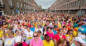 The women's mini marathon in Dublin: 'I felt almost overwhelmed by the sheer force of the event.' Photograph: Morgan Treacy/Inpho