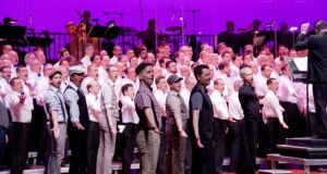 New York City Gay Men's Chorus performing a Big Gay Sing