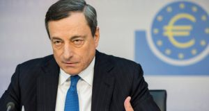 "Mario Draghi, president of the European Central Bank. Two years after the smooth Italian vowed to do ""whatever it takes"" to save the single currency, the big question now is whether his latest intervention is sufficient to shake the economy from its listless stupor. Photograph: Martin Leissl/Bloomberg"