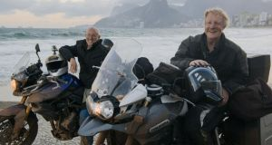 On the road: Peter Murtagh and Geoff Hill on their 2,800 km round trip from Rio de Janeiro by motorbike
