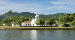 The seaside town of Paraty, which was a gold exporting port for Portuguese colonialists. Photograph: Getty