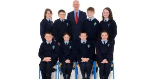 Class act: from left, standing: Elysha Maken Finlay, Robert Crossen, Frank Kelly, Robert Kinsella, Kate Molloy; from left, sitting: Frank Crossen, Niamh Bracken, Jack Wogan and Molly McNally