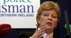 The PSNI must hand over files referring to possible criminal and unprofessional behaviour by officers, Nuala O'Loan, Northern Ireland's former police ombudsman, has said.  Photograph: Matt Kavanagh/The Irish Times.
