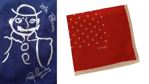 Mr Bloom T shirt,  €30 (inc p&p), cafepress.ie Pocket Square,  €65, Drakes of London at Brown Thomas