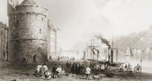 Port city: Reginald's Tower and the Quay in the 1840s, drawn by WH Bartlett. Photograph: Universal History Archive/Getty