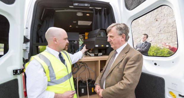 2e75c7604b Go Safe Van operator Keith Walsh showing Judge Patrick Durcan the speed  camera in one of