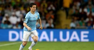 Samir Nasri: left out of the French squad but ready to sign a new long-term deal with Premier League champions  Manchester City. Photo:  Warren Little/Getty Images