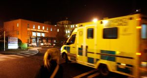 An ambulance arrives at the A&E Department of the Mid-Western Regional Hospital, Limerick. Photograph: Dara MacDónaill/The Irish Times