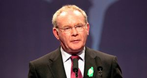 Deputy First Minister Martin McGuinness said Sinn Féin would decline the invitation to speak before the committee. Photograph: Brenda Fitzsimons/The Irish Times