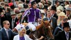 Moment of strewth: Joseph O'Brien acknowledges the crowd after his victory on Australia in the Investec Derby at Epsom racecourse. Photograph: David Davies/PA